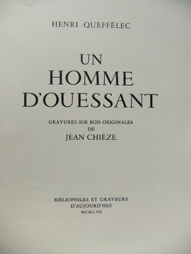 Un Homme d'Ouessant Jean Chieze et Queffelec