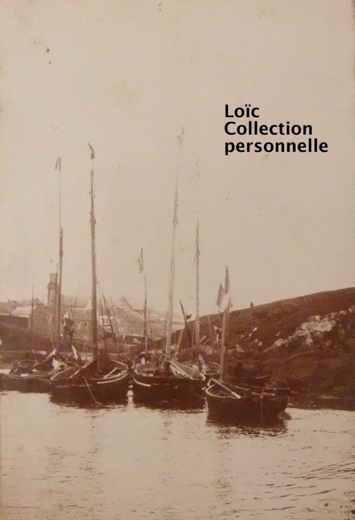 bateaux de peche dans le port de Lampaul à Ouessant