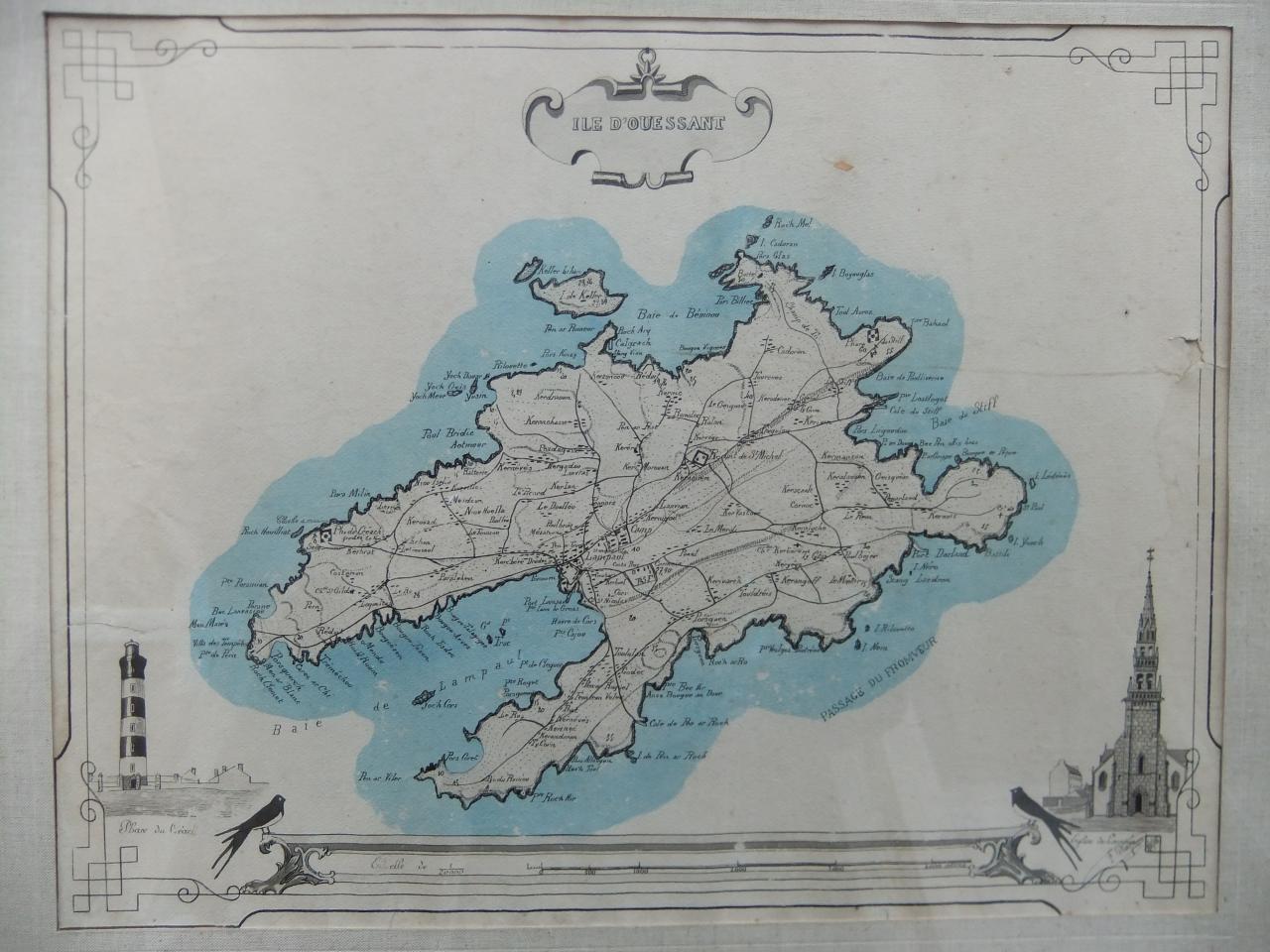 Carte de l'île d'Ouessant Mazé 1915