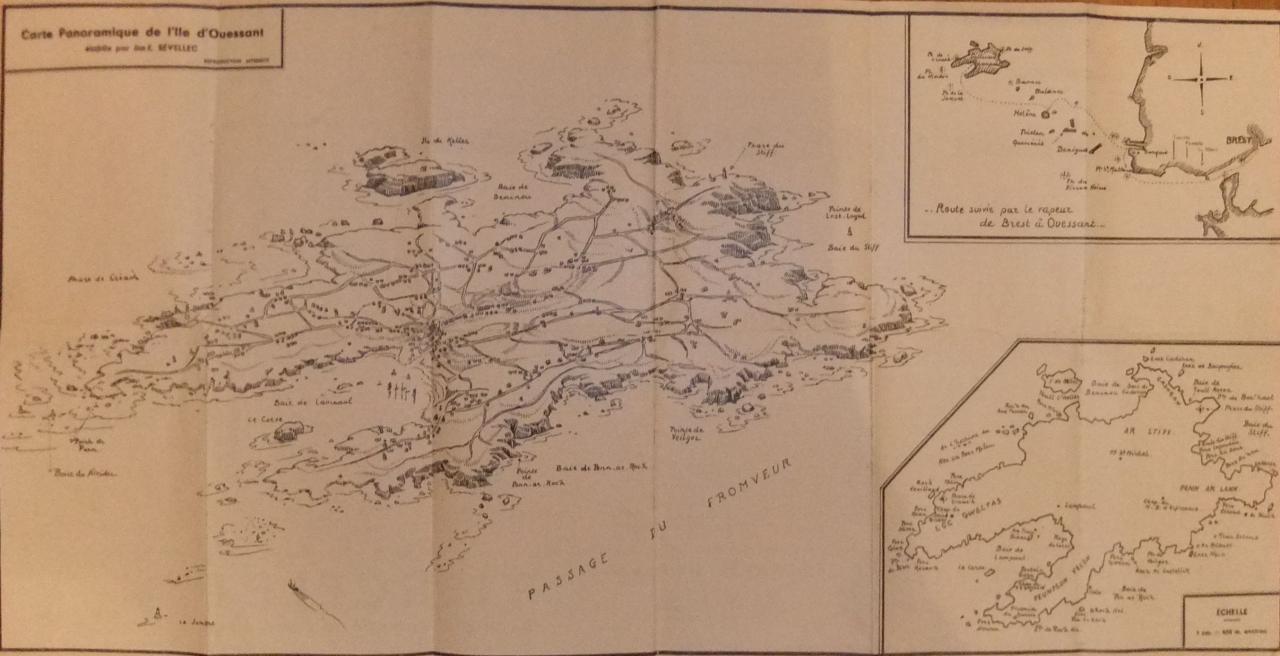 Carte panoramique Ouessant Sevellec