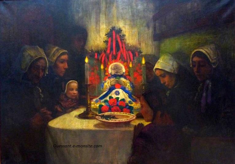 Cottet lenfant mort 65x54 hst 1897 musee beaux arts quimper