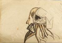 Creston rene yves 1898 1964 etude de coiffe de femme