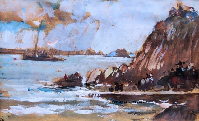 Lucien Delpy A l'embarcadère d'Ouessant