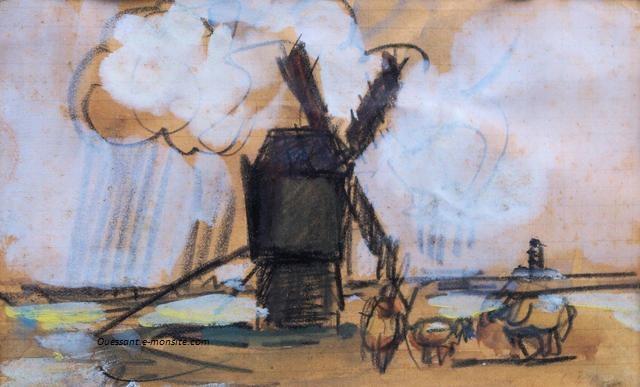 Lucien Delpy le moulin du Creach à Ouessant
