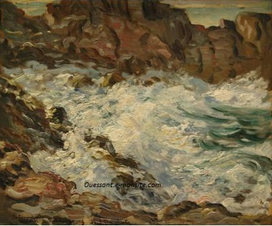 Dougherty paul hsp 38x47 surf at ouessant 1931 1877 1947 byuma