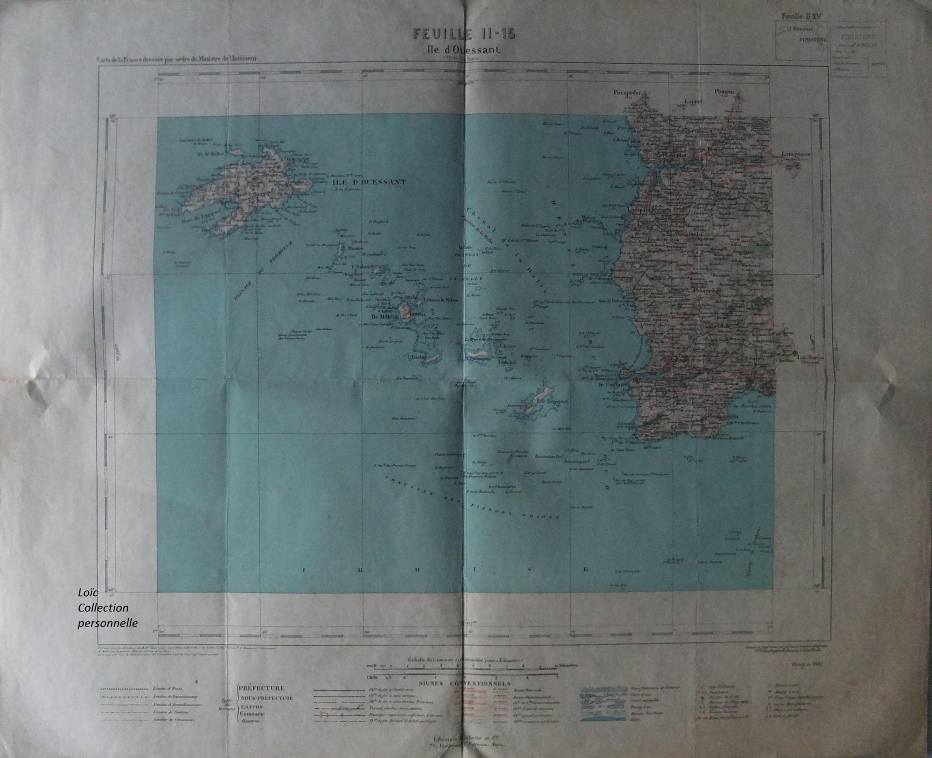 Carte Ile d'Ouessant