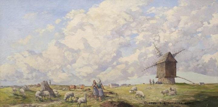 Garin moulin de Karaes Ouessant 90x180