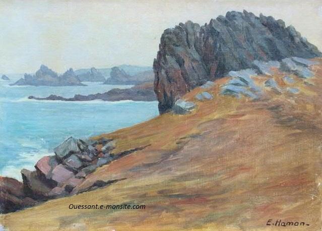 Hamon Emile paysage à Ouessant