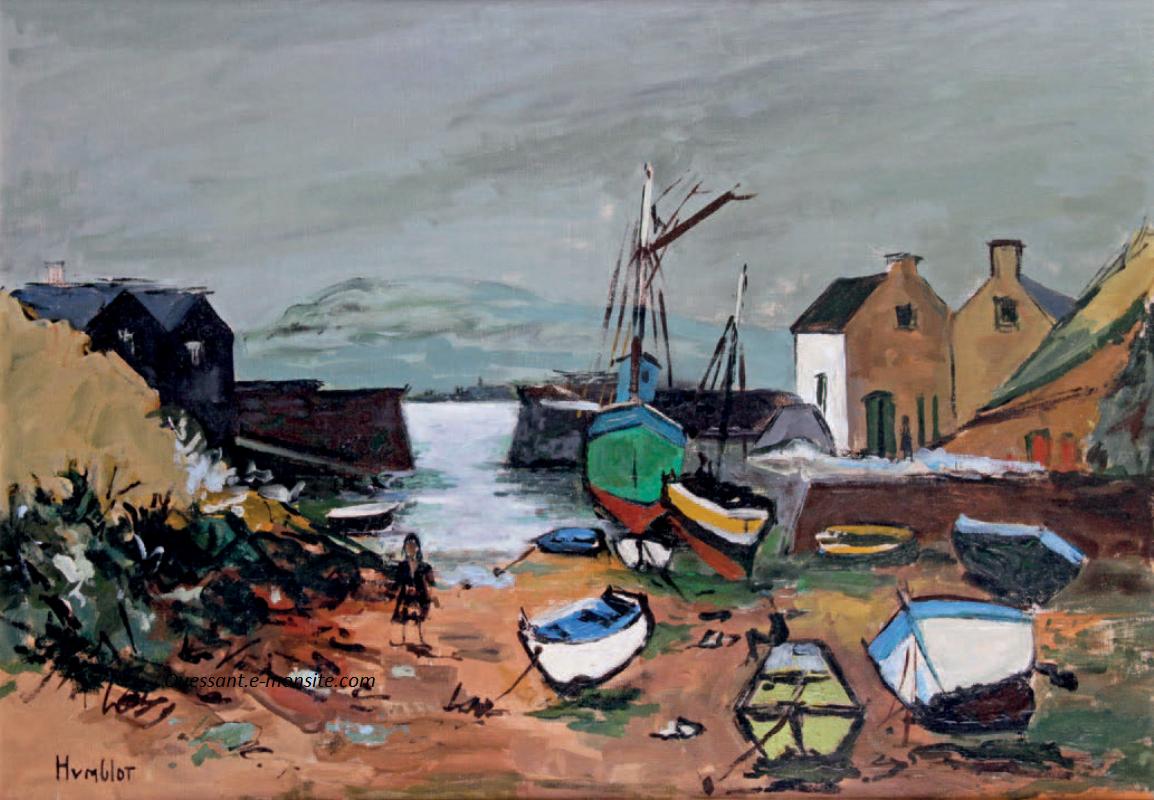 Humblot - Le port d'Ouessant