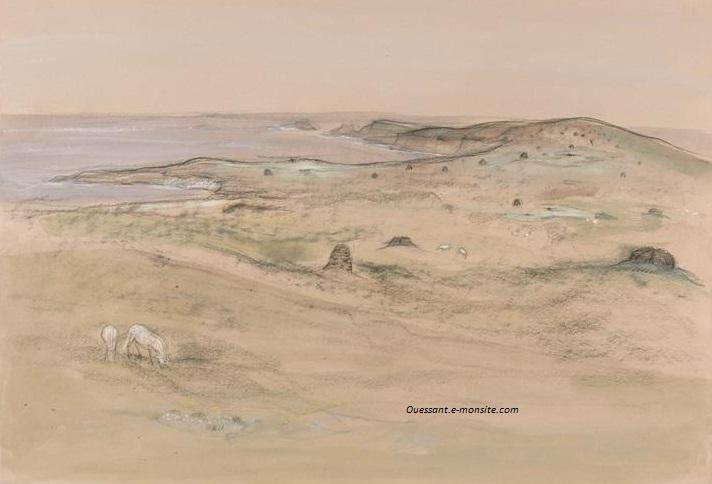 Xavier de Langlais Ouessant 37x54 rennes musee beaux arts
