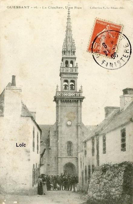 le-bihan-4-le-clocher-une-rue-ouessant