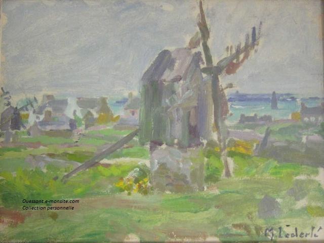 Lederle Maurice Le moulin à Ouessant