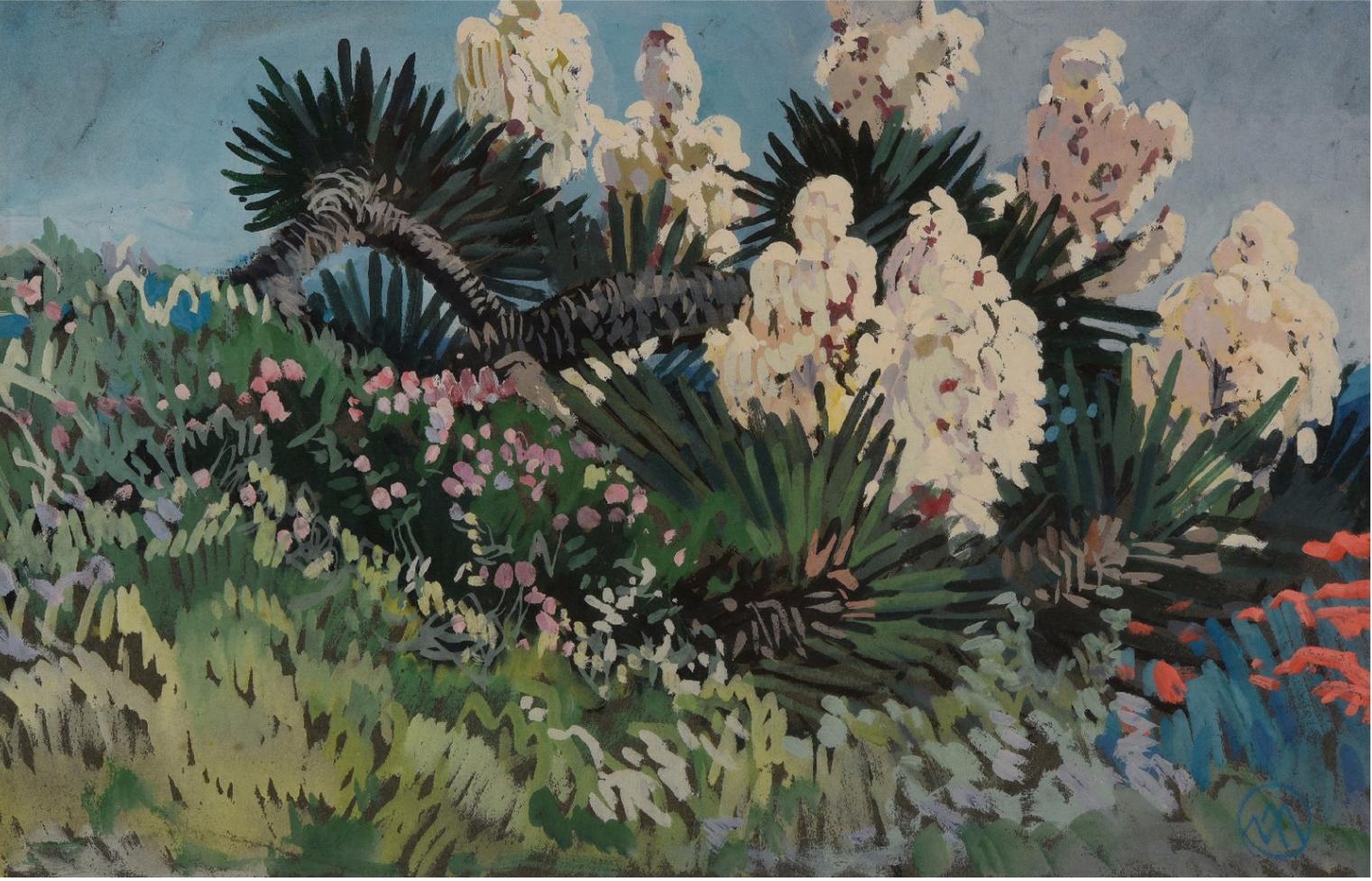 Meheut 30x47 yuccas en fleurs 1