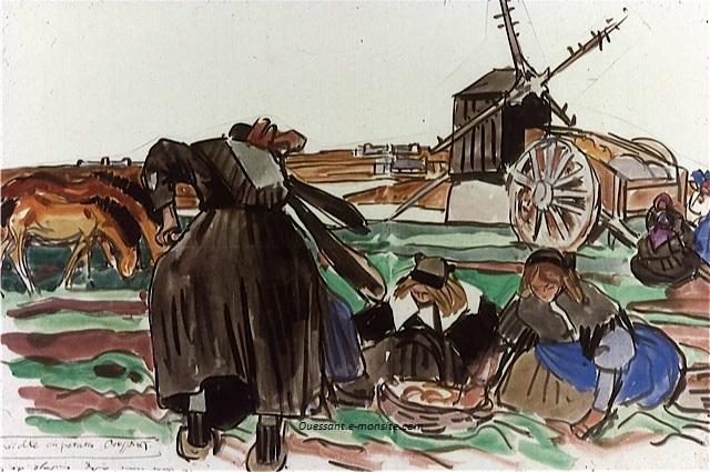 Meheut recolte des patates lettre a yjh 31 07 1927 grande vigne