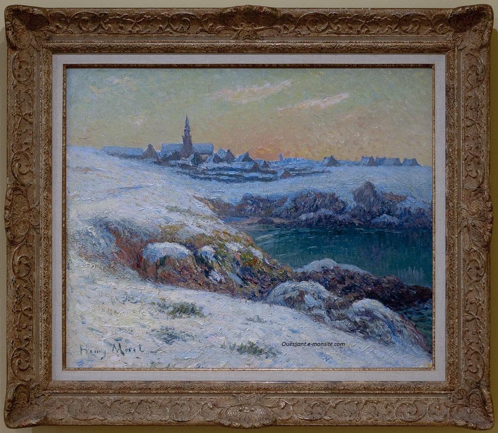 Moret henry neige à Ouessant