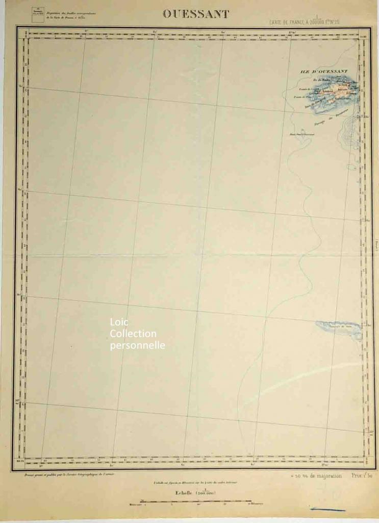 Ouessant carte service géographique de l'armée