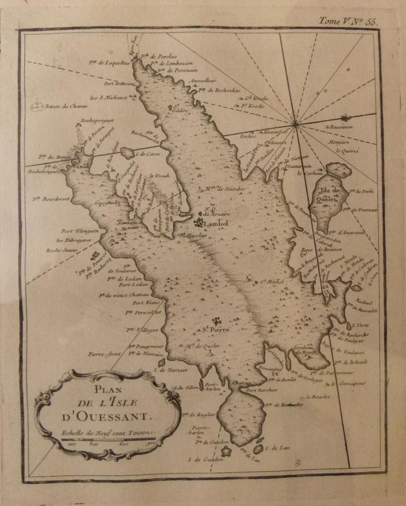 Plan de l'isle d'Ouessant Bellin