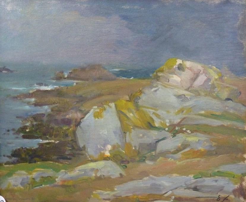 Simon emile 38x46 hscontre musee breton 1951
