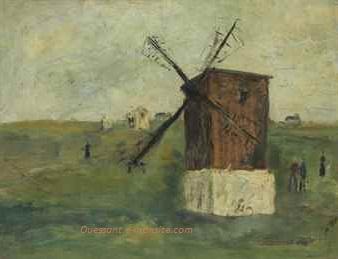 Utrillo le moulin a l ile d ouessant finistere 48x62 hsp