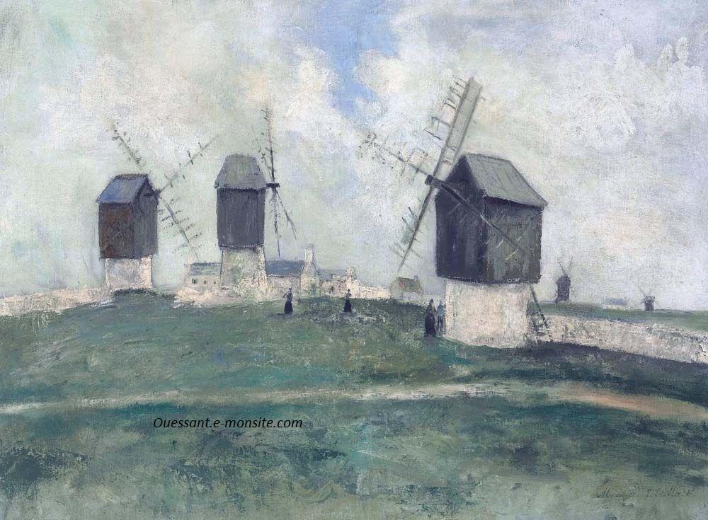 Utrillo Les moulins à Ouessant